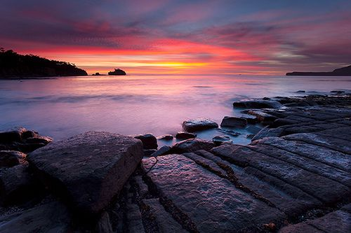 Tessellated Pavement Sunrise, Pirates Bay, Tasmania | Flickr - Photo Sharing!