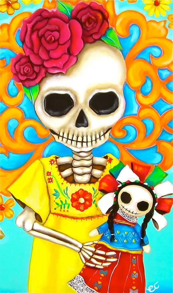 Niña linda  Lista para el día de muertos  Slvh❤❤❤