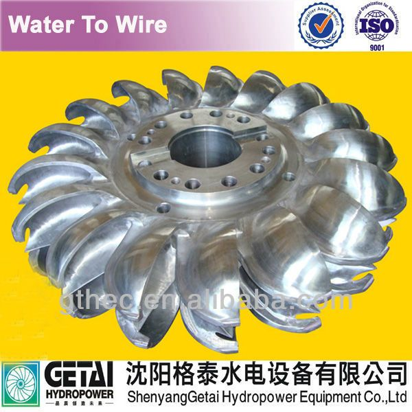 Stable operated hydromechanical pelton nozzle water turbine generating unit turbine generator made in china from shenyang getai