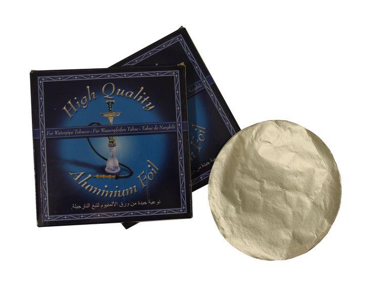 $1500 Papel aluminio especial para Pipa Narguile. 50 láminas para cubrir la cazoleta en la que se deposita el tabaco para unamayor duración y cuidado de la pipa.