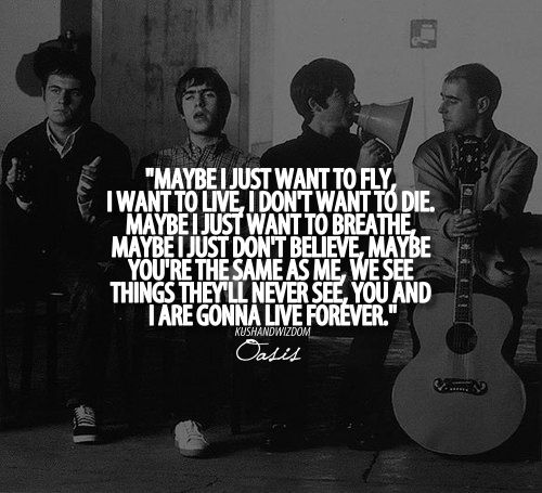 Live Forever by Oasis. Tom and I have made this our guitar duet!