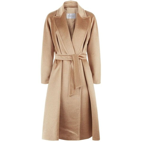 Max Mara Long Alpaca Wrap Coat (151.195 RUB) ❤ liked on Polyvore featuring outerwear, coats, wrap coat, waist belts, beige wrap coat, alpaca wool coats and maxmara coat