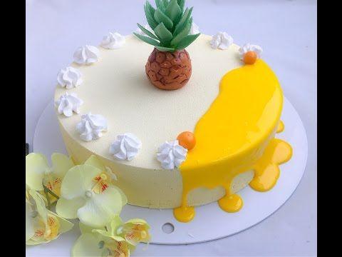 Муссовый торт Пина Колада (Ананас-Кокос) | Pina Colada Mousse Cake Recipe (Pineapple-Coconut) - YouTube