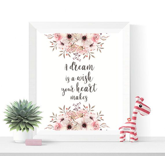 Just A Girl With Dream Feminine Blogger Beauty Watercolour Quote Wall Art Print