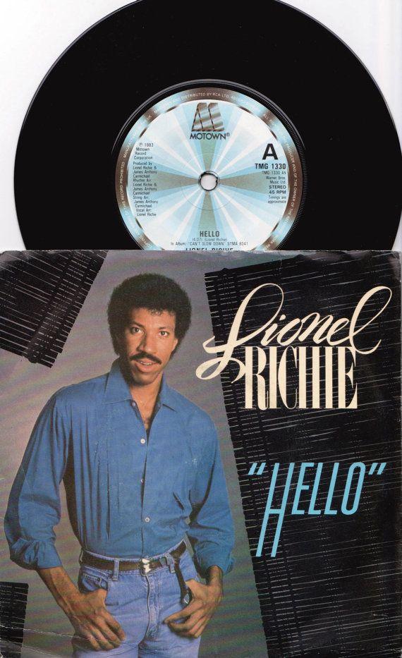 "LIONEL RICHIE Hello 1983 Uk Issue 7"" 45 rpm Vinyl Single record pop Motown soul dance 80s music Commodores Tmg1330 Free Shipping"