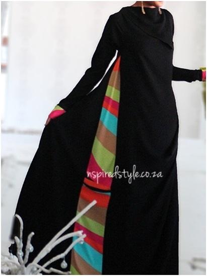 Funky side stripe jilbaab
