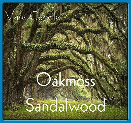 Oakmoss Sandalwood Candle - Vase Candle Refill - Scented, Soy, Paraffin Wax Blend, Paper Core, Self-trimming Wick Candle for Refillable Vase, 50 Hour Burn Time, Free Shipping - Wedding candles and holders (*Amazon Partner-Link)
