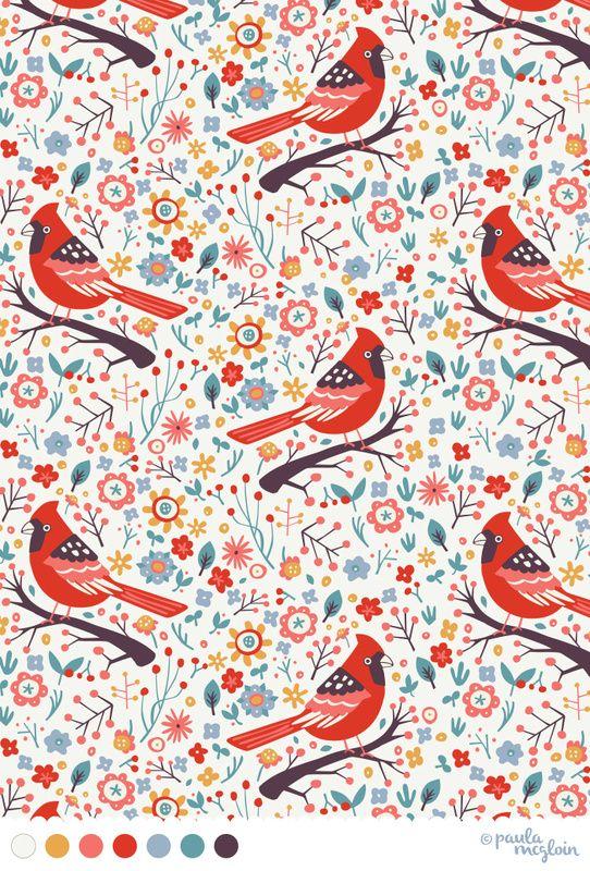 Red Cardinals by Paula McGloin