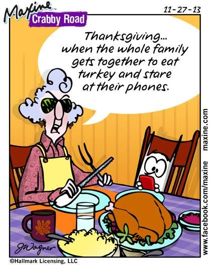 cell phones at the table | Maxine comic for 2013-11-27