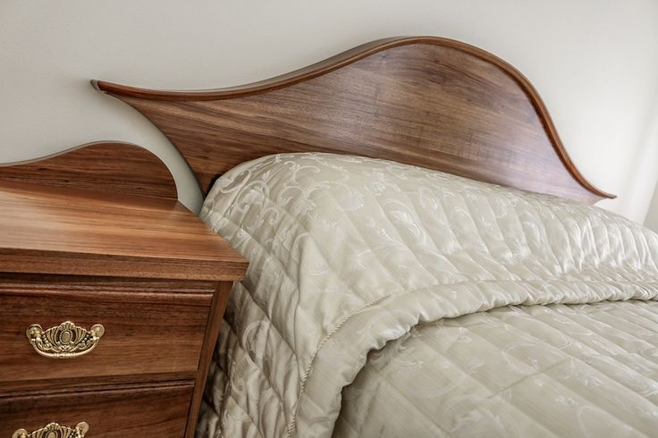 Custom Made Tasmanian Blackwood Bedhead & Side Tables, finished in a Satin Poly.