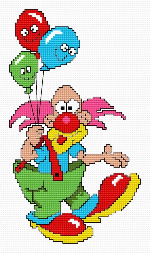 Clown (for children, toy-balloons, colours, great boots, nose)