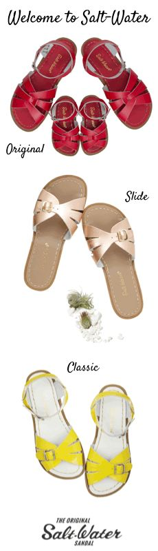 Waterproof leather sandals for women and kids.