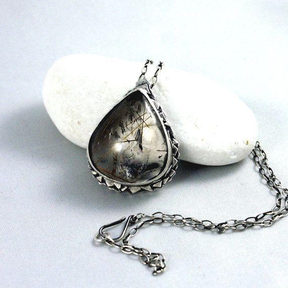 rutil quartz pendant by wazkastudio on Etsy