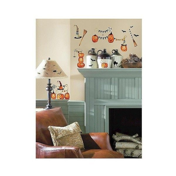 RoomMates Halloween Pumpkins Peel and Stick Wall Decals, Multi-Colored (€6,93) ❤ liked on Polyvore featuring home, home decor, halloween, pumpkin home decor, target home decor, roommates decor, inspirational home decor and halloween home decor