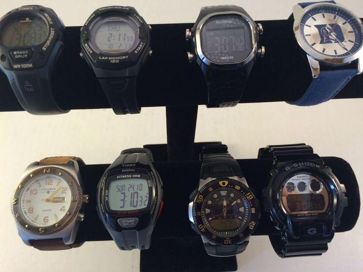 Watch Lot 8(Working) Men's-Casio Tough Solar-G-Shock-Timex-Armitron
