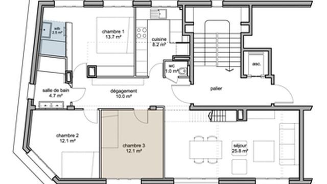 Plan Appartement De 80m2 How To Plan Facade House