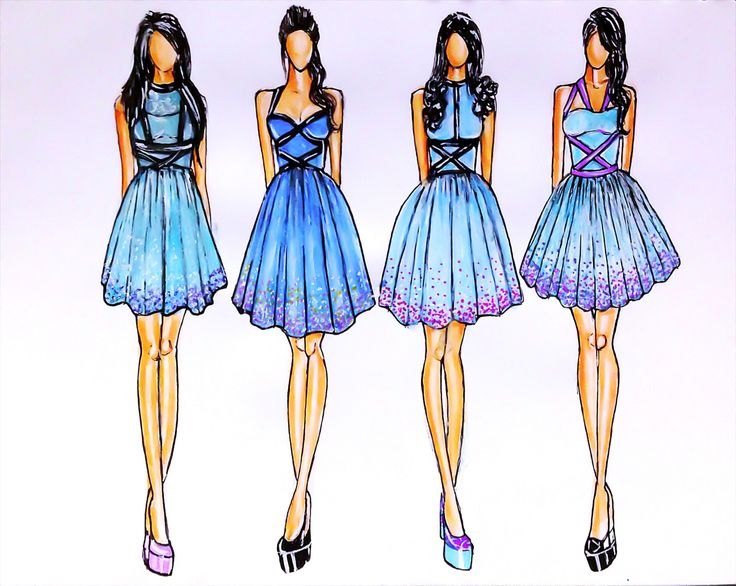 Adobe Illustrator Flat Fashion Sketch Templates - My 38