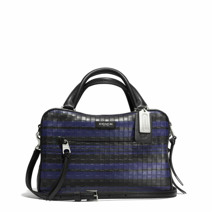 The Bleecker Small Toaster Satchel In Embossed Woven Leather from Coach