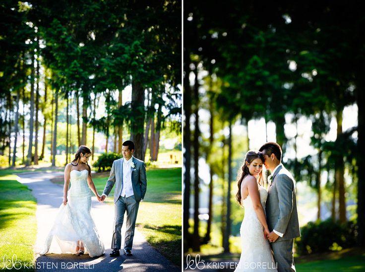 Comox Crown Isle Wedding, bride and groom portrait