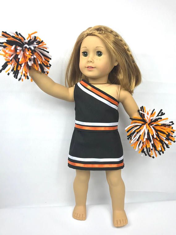 Doll Cheerleading Outfit 18 Doll Clothes Orange Black White Doll