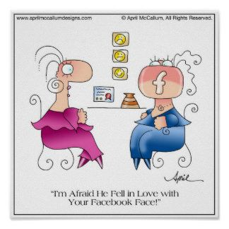 FACEBOOK FACE Poster by April McCallum