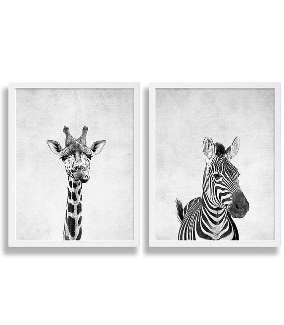 Due stampe animalier giraffa stampa Safari di CocoAndJames su Etsy