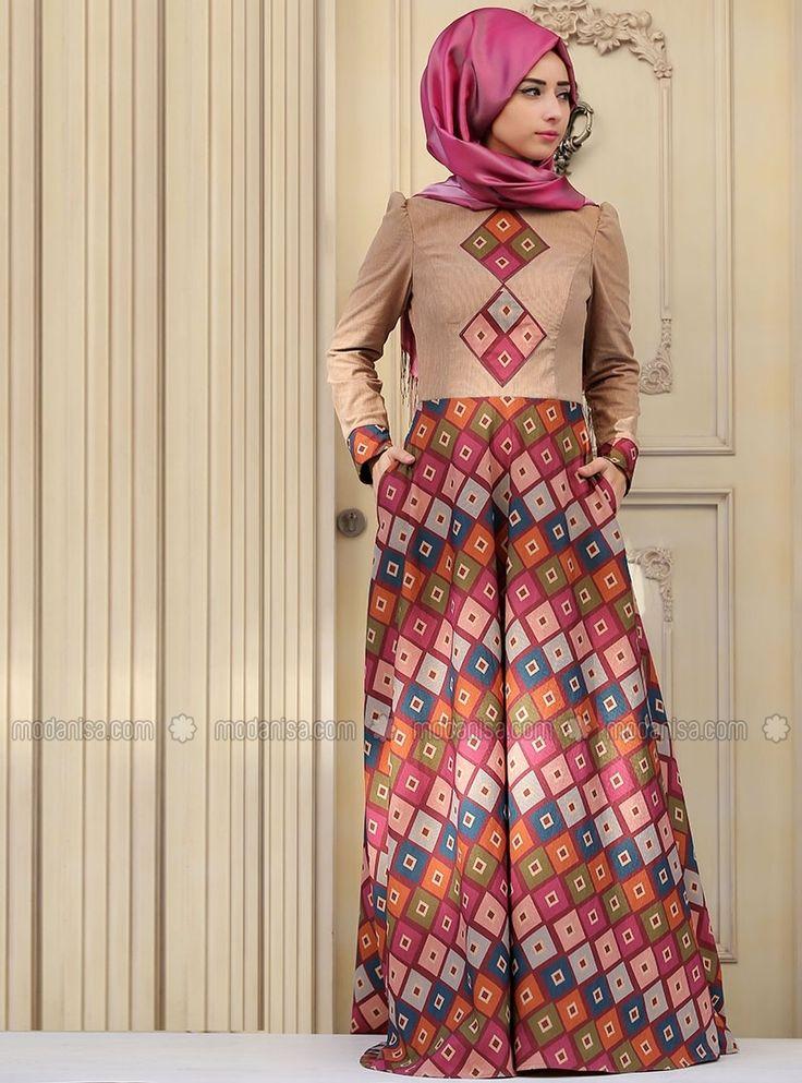 Defne Elbise - Fuşya - Zehrace