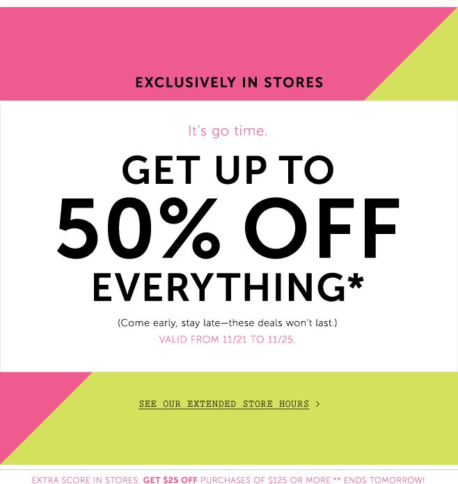 black friday email - nice simple copy