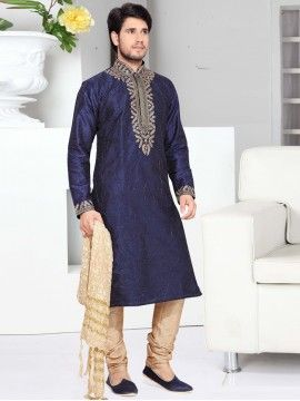 Blue Color Kurta Pyjama