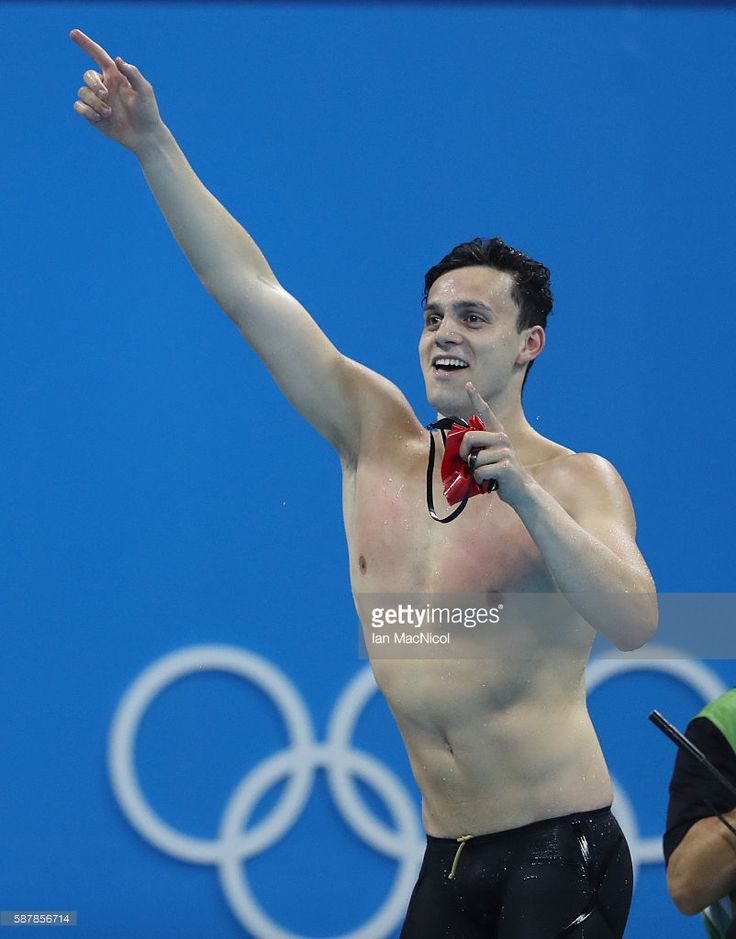 James Guy of Great Britain celebrates victory in winning the Men's 4 x 200m Freestyle Relay on Day 4 of the Rio 2016 Olympic Games at the Olympic Aquatics Stadium on August 9, 2016 in Rio de Janeiro, Brazil.