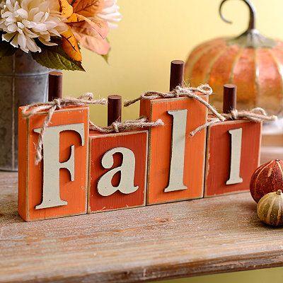 Fall Pumpkin Word Block