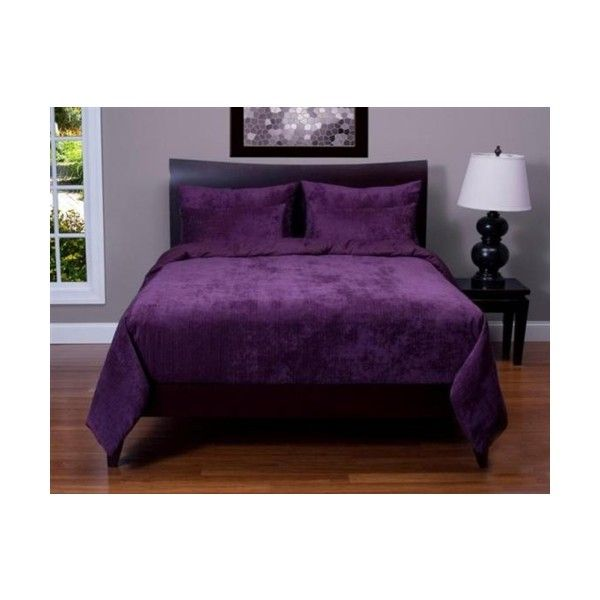 Purple 5 piece Twin / Twin XL Dorm Bedding set ($170) ❤ liked on Polyvore featuring home, bed & bath, bedding, purple bed sets, twin bed sets, twin bedding sets, purple twin bedding and purple bedding