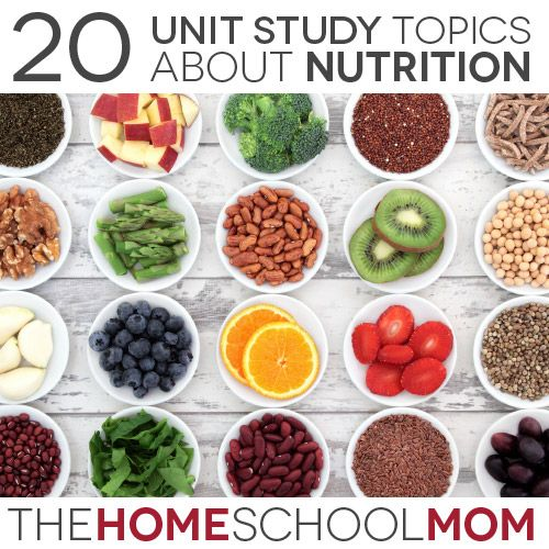 A nutrition unit study is an ideal homeschooling topic for 10 - 14 year olds - these middle years are an excellent time to go into more depth about what we eat and how it affects our health and growth.