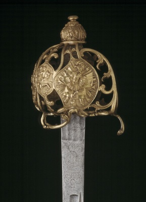 Cavalry officer's sword. English, about 1730-40.