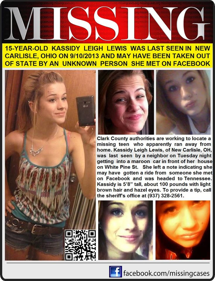 Missing 15 Year Old Girl Found: 9/10/2013: KASSIDY LEWIS, 15, Is Missing From New Carlisle