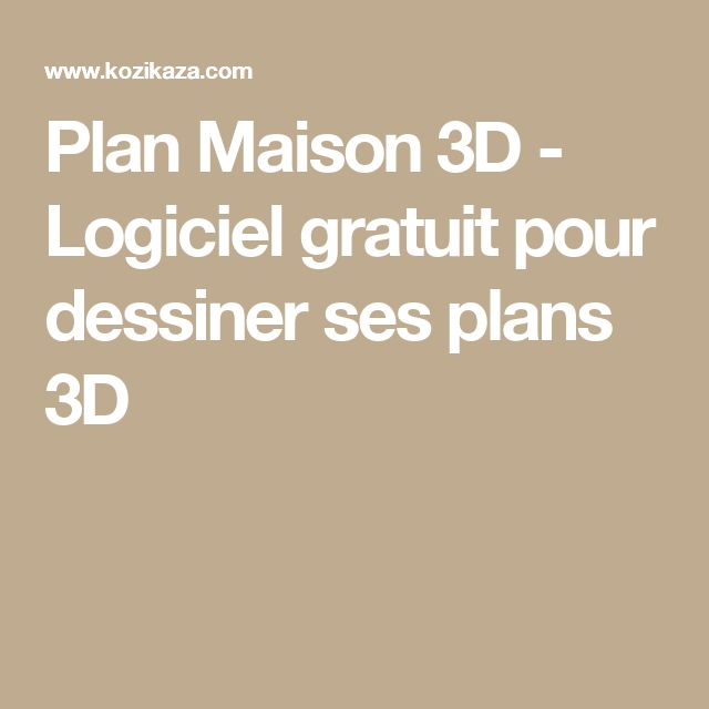 Best 25 Logiciel Plan Maison Gratuit Ideas On Pinterest