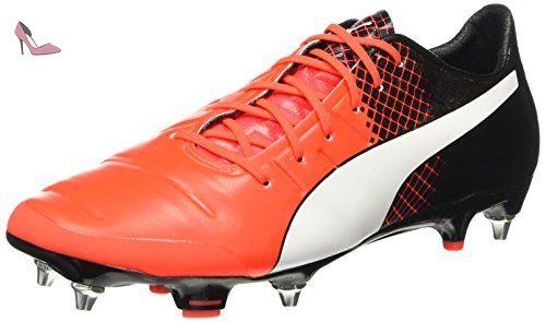 Puma evoSPEED 1.3 FG, Chaussures de football homme - Rouge - Rot (bright plasma-white-peacoat 04), 46 EU