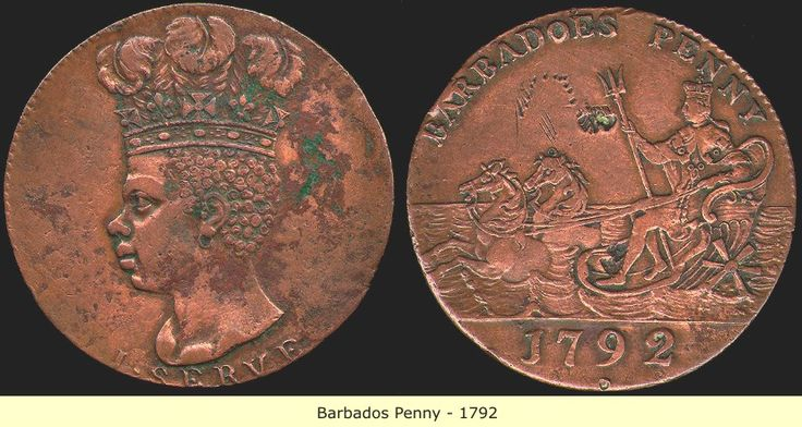 black nobility of ancient mexico | Coin of King George III issued in Barbados