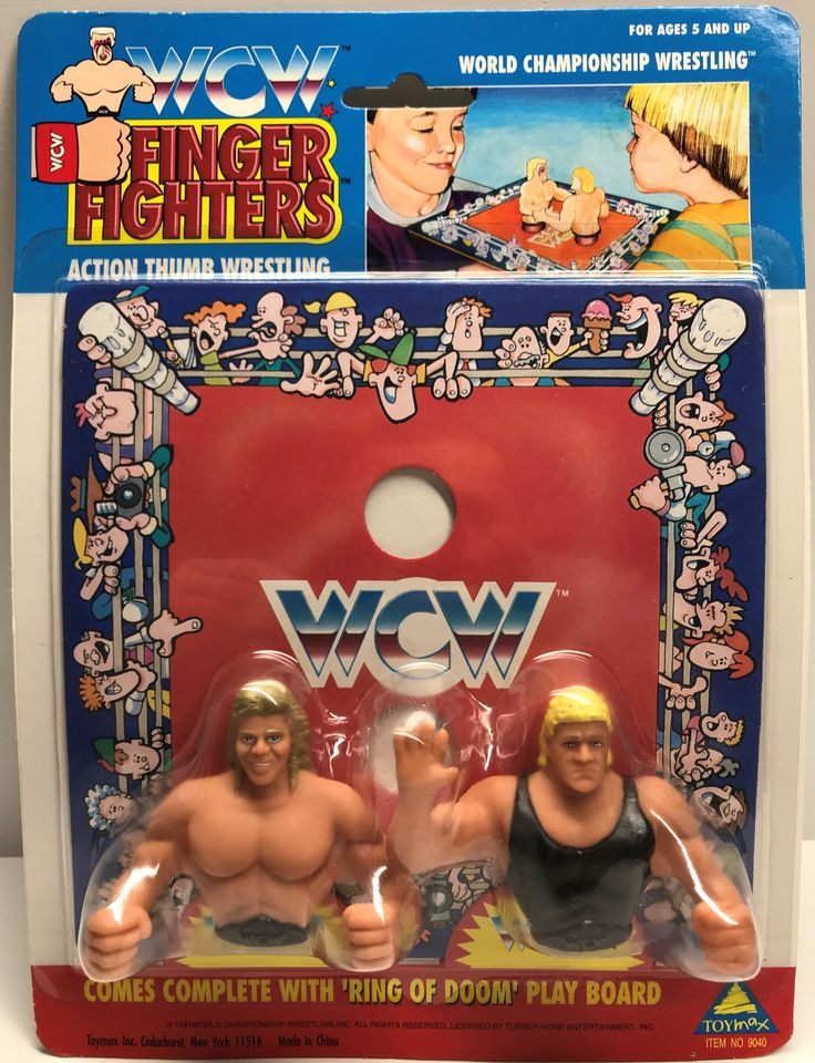 The Angry Spider has the best toys: TAS038557 - 1991 ...  Take a look: http://theangryspider.com/products/tas038557-1991-toymax-wcw-finger-fighters-lex-luger-sid?utm_campaign=social_autopilot&utm_source=pin&utm_medium=pin