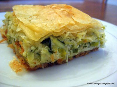 Kalofagas - Greek Food  Beyond by Peter Minakis: Leek and Cheese Pie - Prassopita (Πρασόπιτα)