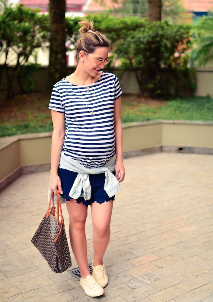 lili paiva - gravidez - look - navy - keep a secret blog