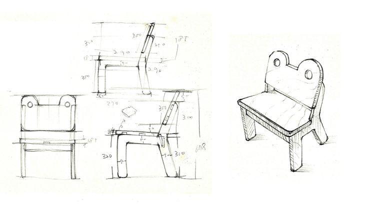 유아용 의자 디자인  rough sketch