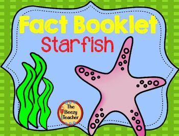 This non-fiction book on starfish is a great resource to use for doing a research project on ocean animals with your pre-k/kindergarten class. Included in this product is a black and white informational book about starfish, a worksheet for note-taking and the research form to be filled out by the child.