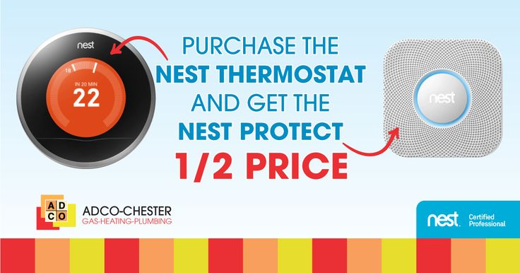 Half price Nest Protect when buying Nest Thermostat.  While stocks last.  Please email to order.