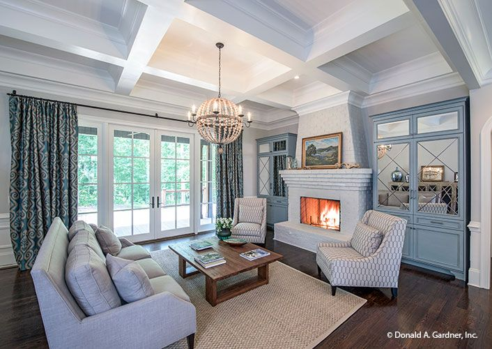 Home builders pinnacle award another don gardner design for Coffered cathedral ceiling