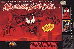 MaximumcarnageSNES boxart.jpgAll Super Nintendo Games: List of SNES Console Games Video Games. #snes #nintendo #fun #gaming #super #classicgames #games #geek #nerd #oldskool #retro #synergeticideas #pins #pinterest