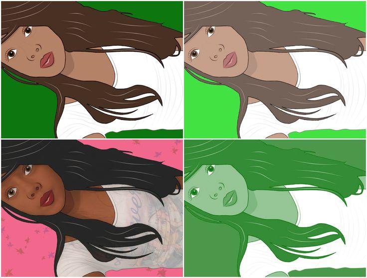 Collage caricaturas e ilustración *Modelo Camila G
