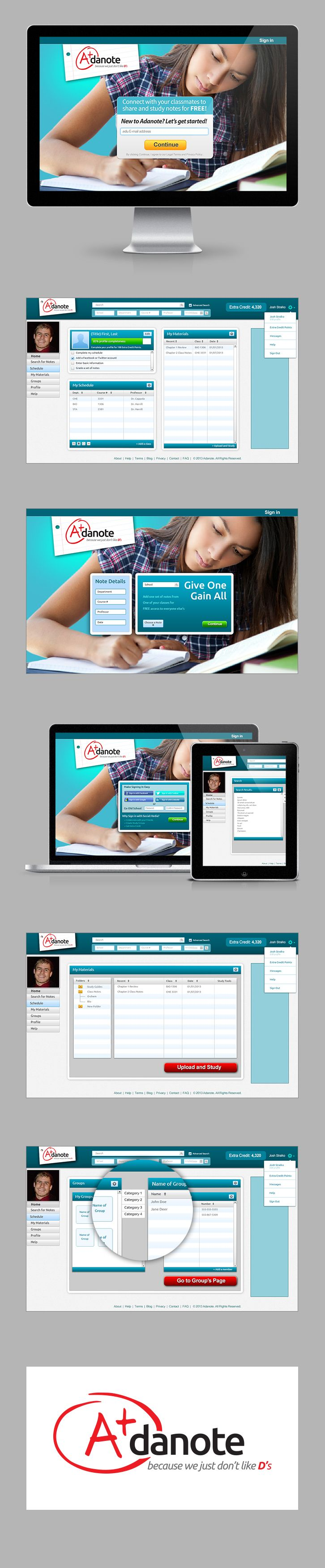 Adanote is an online collaborative platform for college students to upload, share, and study their notes effectively. Adanote was started by college students and is intended to be used by college students. Their mission is to  provide an innovative collaborative learning platform for students to share notes, study guides, and other class materials and then use our tools to study those materials.