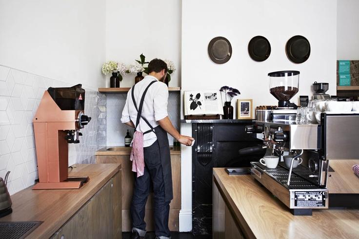 Market Lane Coffee, Carlton Designed by Sarah Trotter, Hearth Photo: Armelle Habib