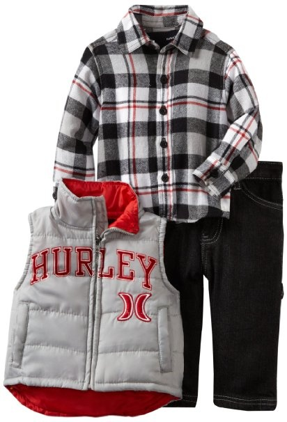 Amazon.com: Hurley Baby-boys Infant Vest Set: Clothing